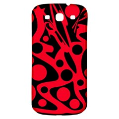 Red and black abstract decor Samsung Galaxy S3 S III Classic Hardshell Back Case