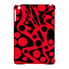 Red and black abstract decor Apple iPad Mini Hardshell Case (Compatible with Smart Cover)