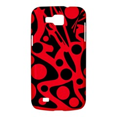 Red and black abstract decor Samsung Galaxy Premier I9260 Hardshell Case