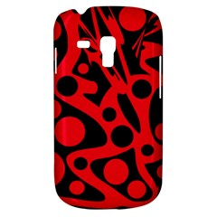 Red and black abstract decor Samsung Galaxy S3 MINI I8190 Hardshell Case