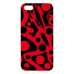 Red and black abstract decor Apple iPhone 5 Premium Hardshell Case