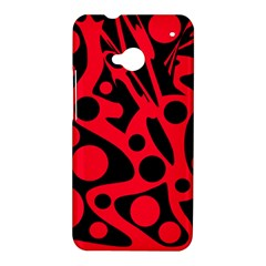 Red and black abstract decor HTC One M7 Hardshell Case