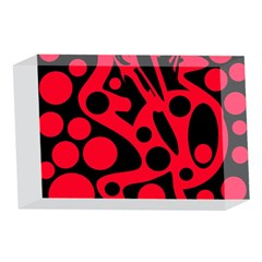 Red and black abstract decor 4 x 6  Acrylic Photo Blocks