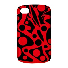 Red and black abstract decor BlackBerry Q10