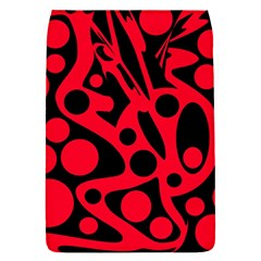 Red and black abstract decor Flap Covers (S)