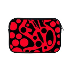 Red and black abstract decor Apple iPad Mini Zipper Cases