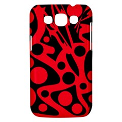 Red and black abstract decor Samsung Galaxy Win I8550 Hardshell Case
