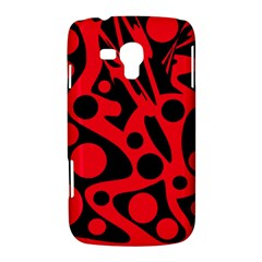 Red and black abstract decor Samsung Galaxy Duos I8262 Hardshell Case