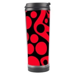 Red and black abstract decor Travel Tumbler