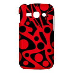 Red and black abstract decor Samsung Galaxy Ace 3 S7272 Hardshell Case