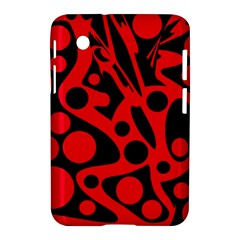 Red and black abstract decor Samsung Galaxy Tab 2 (7 ) P3100 Hardshell Case