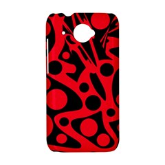 Red and black abstract decor HTC Desire 601 Hardshell Case