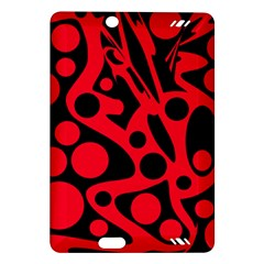 Red and black abstract decor Amazon Kindle Fire HD (2013) Hardshell Case
