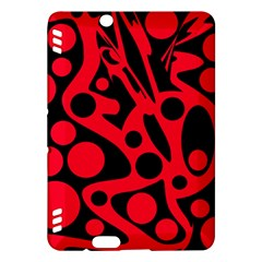 Red and black abstract decor Kindle Fire HDX Hardshell Case