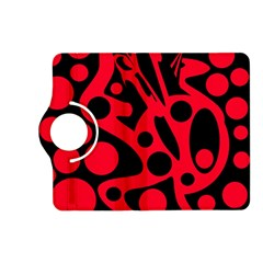 Red and black abstract decor Kindle Fire HD (2013) Flip 360 Case