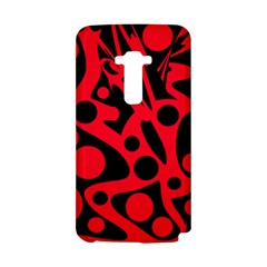 Red and black abstract decor LG G Flex
