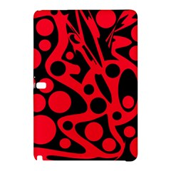 Red and black abstract decor Samsung Galaxy Tab Pro 10.1 Hardshell Case