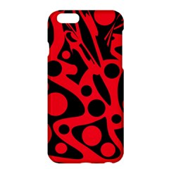 Red and black abstract decor Apple iPhone 6 Plus/6S Plus Hardshell Case