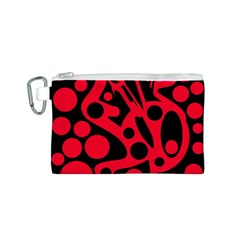 Red and black abstract decor Canvas Cosmetic Bag (S)