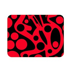 Red and black abstract decor Double Sided Flano Blanket (Mini)