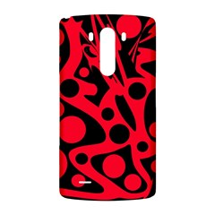 Red and black abstract decor LG G3 Back Case