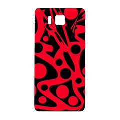 Red and black abstract decor Samsung Galaxy Alpha Hardshell Back Case