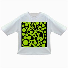 Green and black abstract art Infant/Toddler T-Shirts