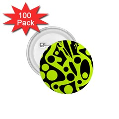 Green and black abstract art 1.75  Buttons (100 pack)