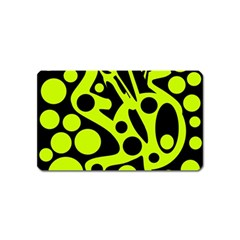 Green and black abstract art Magnet (Name Card)