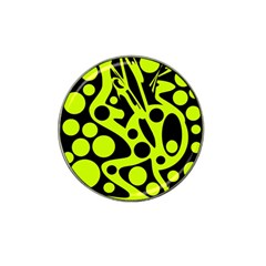 Green and black abstract art Hat Clip Ball Marker (4 pack)
