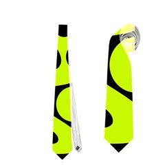 Green and black abstract art Neckties (One Side)