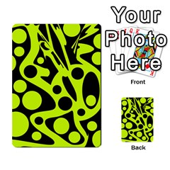 Green and black abstract art Multi-purpose Cards (Rectangle)