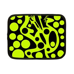 Green and black abstract art Netbook Case (Small)