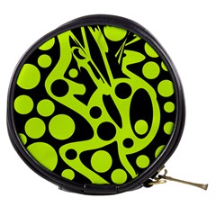 Green and black abstract art Mini Makeup Bags