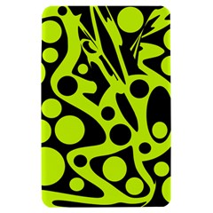 Green and black abstract art Kindle Fire (1st Gen) Hardshell Case