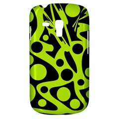 Green and black abstract art Samsung Galaxy S3 MINI I8190 Hardshell Case