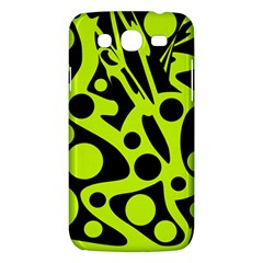 Green and black abstract art Samsung Galaxy Mega 5.8 I9152 Hardshell Case
