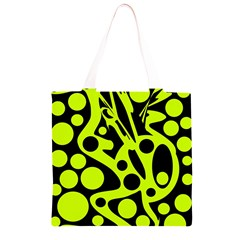 Green and black abstract art Grocery Light Tote Bag