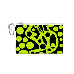 Green and black abstract art Canvas Cosmetic Bag (S)