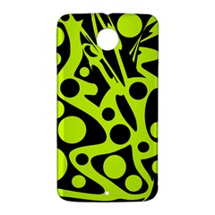 Green and black abstract art Nexus 6 Case (White)