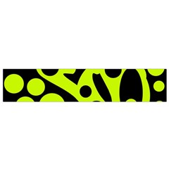 Green and black abstract art Flano Scarf (Small)