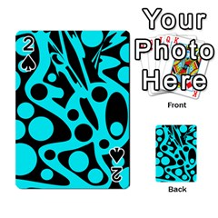 Cyan and black abstract decor Playing Cards 54 Designs