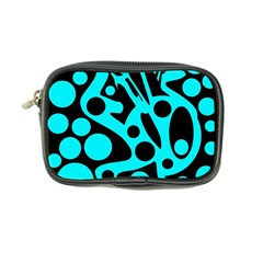 Cyan and black abstract decor Coin Purse