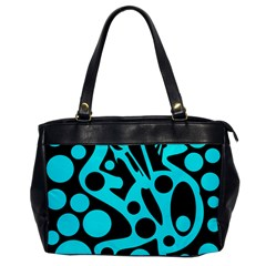 Cyan and black abstract decor Office Handbags