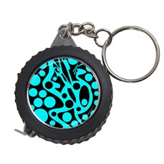 Cyan and black abstract decor Measuring Tapes