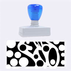 Cyan and black abstract decor Rubber Stamps (Large)