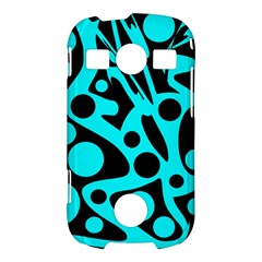 Cyan and black abstract decor Samsung Galaxy S7710 Xcover 2 Hardshell Case