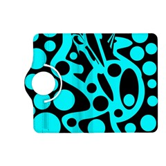 Cyan and black abstract decor Kindle Fire HD (2013) Flip 360 Case