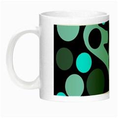 Cyan blue abstract art Night Luminous Mugs