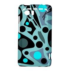 Cyan blue abstract art HTC Vivid / Raider 4G Hardshell Case